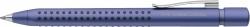 Kugelschreiber GRIP 2011 - XB, blau (dokumentenecht), blau metallic