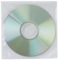 CD/DVD-Hüllen - Ungelocht, transparent, Packung mit 50 Stück