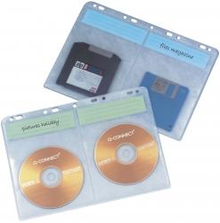 CD/DVD-Hüllen - zur Ablage im Ordner/Ringbuch, transparent, 10 Stück