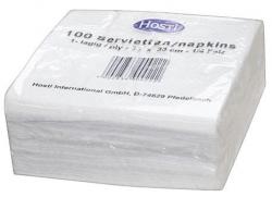 Serviette - 33x33cm, weiß, 100 Stück