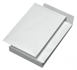 Faltentaschen B4, ohne Fenster, mit 40 mm-Falte und Klotzboden, 140 g/qm, weiß, 100 Stück