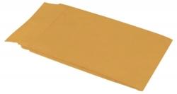 Faltentaschen B4, ohne Fenster, mit 40 mm-Falte und Klotzboden, 140 g/qm, braun, 100 Stück