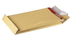 Faltentaschen Recycling - C4, ohne Fenster, 40 mm-Falte und Klotzboden, 130 g/qm, braun, 10 Stück