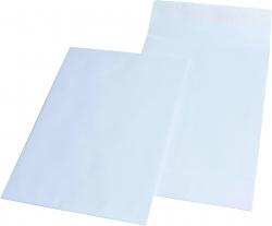 Faltentaschen C4, ohne Fenster, mit 40 mm-Falte, 140 g/qm, weiß, 100 Stück