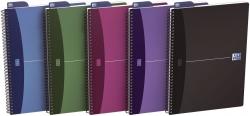 Office Spiralbuch - A4, 7 mm liniert, 90 Blatt, sortiert