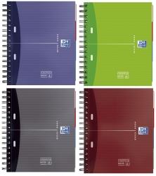 Office European Book - A5+, 5mm kariert, 100 Blatt, sortiert