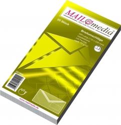 Briefumschläge DIN lang (220x110 mm), mit Fenster, gummiert, 72 g/qm, 25 Stück