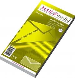 Briefumschläge DIN lang (220x110 mm), ohne Fenster, gummiert, 72 g/qm, 25 Stück