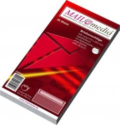 Briefumschläge DIN lang (220x110 mm), ohne Fenster, haftklebend, 80 g/qm, 25 Stück
