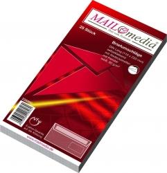 Briefumschläge DIN lang (220x110 mm), mit Fenster, haftklebend, 80 g/qm, 25 Stück