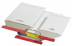 Versandtaschen Vollpappe 260x345x30 mm (C4), weiß