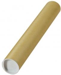 Versandrohre mit vormontierten Verschlusskappen Ø 430x60 mm, braun, 24 Stück