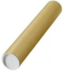 Versandrohre mit vormontierten Verschlusskappen Ø 500x80 mm, braun, 10 Stück