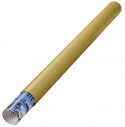 Versandrohre mit vormontierten Verschlusskappen Ø 750x50 mm, braun, 24 Stück