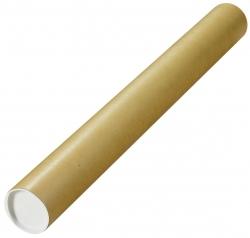 Versandrohre mit vormontierten Verschlusskappen Ø 750x80 mm, braun, 10 Stück