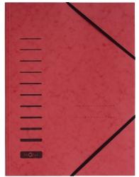 Gummizugmappe - A4, 150 Blatt, rot