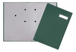 Unterschriftsmappe - 20 Fächer, grün