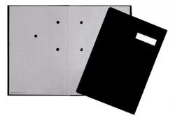 Unterschriftsmappe - 20 Fächer, schwarz