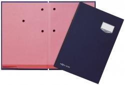 Unterschriftsmappe DE LUXE - 20 Fächern, A4, Leinen-Einband, blau