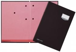 Unterschriftsmappe DE LUXE - 20 Fächern, A4, Leinen-Einband, schwarz