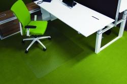 Ecogrip® Bodenschutzmatte für hochflorige Teppichböden, mit stumpfen Ankernoppen Form O 130 x 120 cm