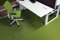 Ecogrip® Bodenschutzmatte für hochflorige Teppichböden, mit stumpfen Ankernoppen Form U 120 x 130 cm