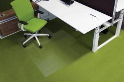 Ecogrip® Bodenschutzmatte für hochflorige Teppichböden, mit stumpfen Ankernoppen Form L 150 x 120 cm