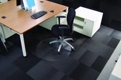 Rollsafe® Bodenschutzmatte für niederflorige Teppichböden - Form R, Ø 90 cm