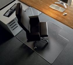 Rollsafe® Bodenschutzmatte für glatte/ harte Böden - Form R, Ø 90 cm