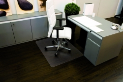 Rollt & Schützt® Bodenschutzmatte für glatte/ harte Böden - Form 0, 75 x 120 cm