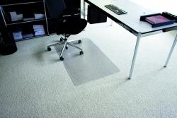 Rollt & Schützt® Bodenschutzmatte für mittelflorige Teppichböden - Form 0, 75 x 120 cm