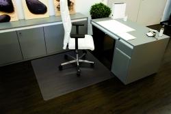 Rollt & Schützt® Bodenschutzmatte für glatte/ harte Böden - Form 0, 120 x 110 cm
