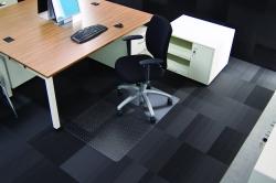 Rollsafe® Bodenschutzmatte für niederflorige Teppichböden - Form 0, 120 x 90 cm