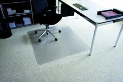 Rollt & Schützt® Bodenschutzmatte für mittelflorige Teppichböden - Form 0, 110 x 120 cm