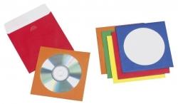 CD/DVD-Hüllen - Papier, farbig sortiert