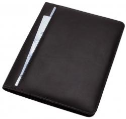 Konferenzmappe CREMONA - A4, Echt Leder, schwarz
