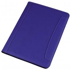 Schreibmappe MESSINA - A4, Lederimitat, blau