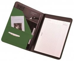 Schreibmappe MESSINA - A4, Lederimitat, grün