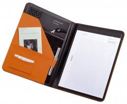Schreibmappe MESSINA - A4, Lederimitat, orange