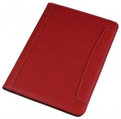 Schreibmappe MESSINA - A4, Lederimitat, rot