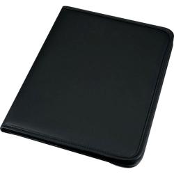 Schreibmappe SAVONA - A4, Lederimitat, schwarz