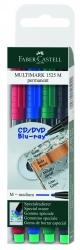 CD-Marker MULTIMARK, wasserfest, Strichstärke: ca. 1 mm, 4 Farben, Etui