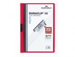 Klemm-Mappe DURACLIP® 30, DIN A4, rot
