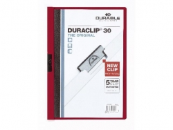 Klemm-Mappe DURACLIP® 30, DIN A4, aubergine/dunkelrot