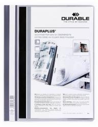 Angebotshefter DURAPLUS®, strapazierfähige Folie, A4+, grau