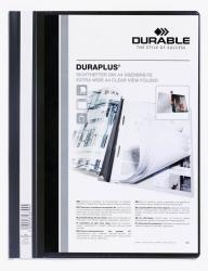 Angebotshefter DURAPLUS®, strapazierfähige Folie, A4+, schwarz