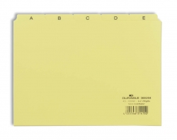 Leitregister A-Z - DIN A5 quer, gelb