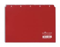 Leitregister A-Z - DIN A5 quer, rot