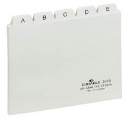 Leitregister A-Z - DIN A6 quer, weiß