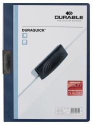 Klemm-Mappe DURAQUICK® - Weich-/Hartfolie, 20 Blatt, transparent/dunkelblau